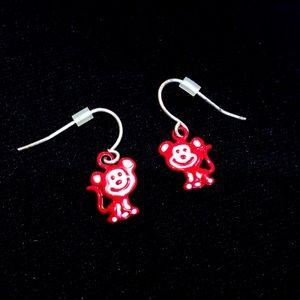 Monkey earrings (3 set)